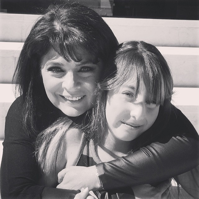 Виктория Руффо с дочерью